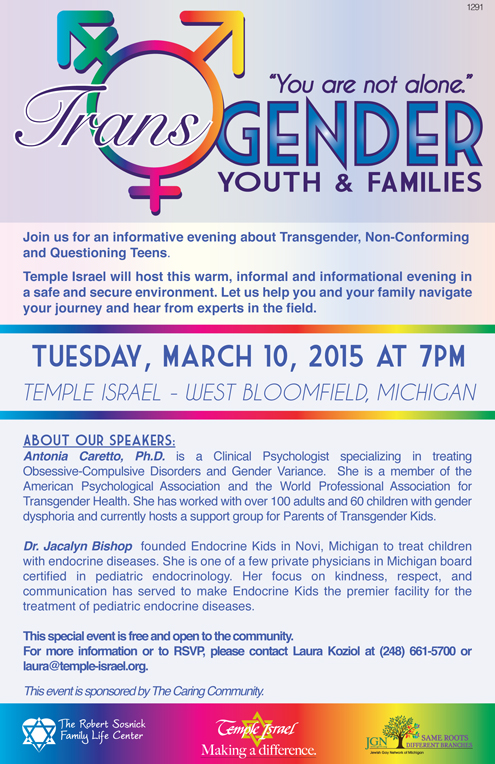 1276 - Transgender Speakers - Youth and Family